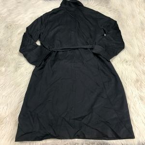 Uniqlo SoftShell Long Line Trench Coat With Tie